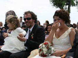 Sonrisas y lagrimas en una boda