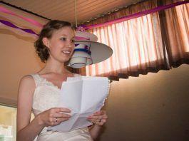 Discurso de la novia en una boda