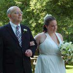 Padre e hija en boda