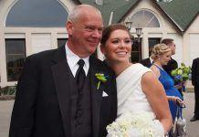 Carta de un padre en una boda en invierno