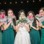 Damas de honor con la novia